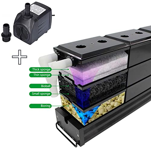 AE-SHOP Aquarium Filter Fish Tank Upper Trickle Box Filters System