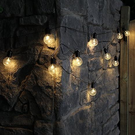 Guirnalda festiva para interior y exterior con 10bombillas transparentes led de iluminación