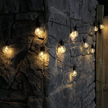 Festoon lights battery powered timer 45m black cable warm festoon lights battery powered timer 45m black cable warm white leds mozeypictures Choice Image
