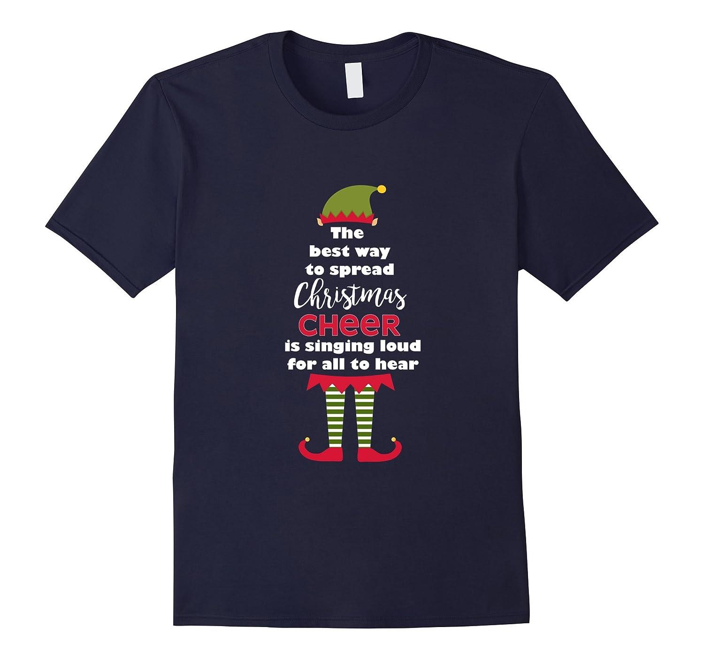 Elf Tshirt Novelty Spread Christmas Cheer Cute Women & Girls-Art