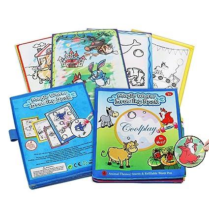 Amazon.com: Magic Water Drawing Books, Children\'s Day Gift Animal ...