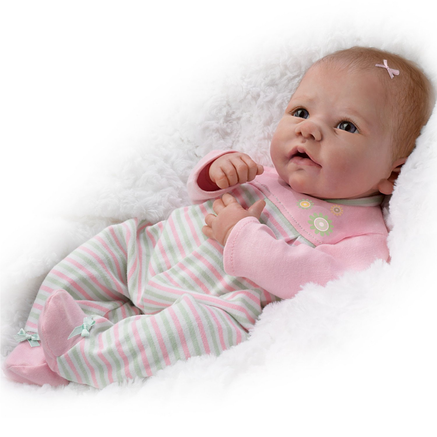 Elizabeth So Truly Real® Lifelike & Realistic Weighted Newborn Baby Doll 18-inches by The Ashton-Drake Galleries by The Ashton-Drake Galleries