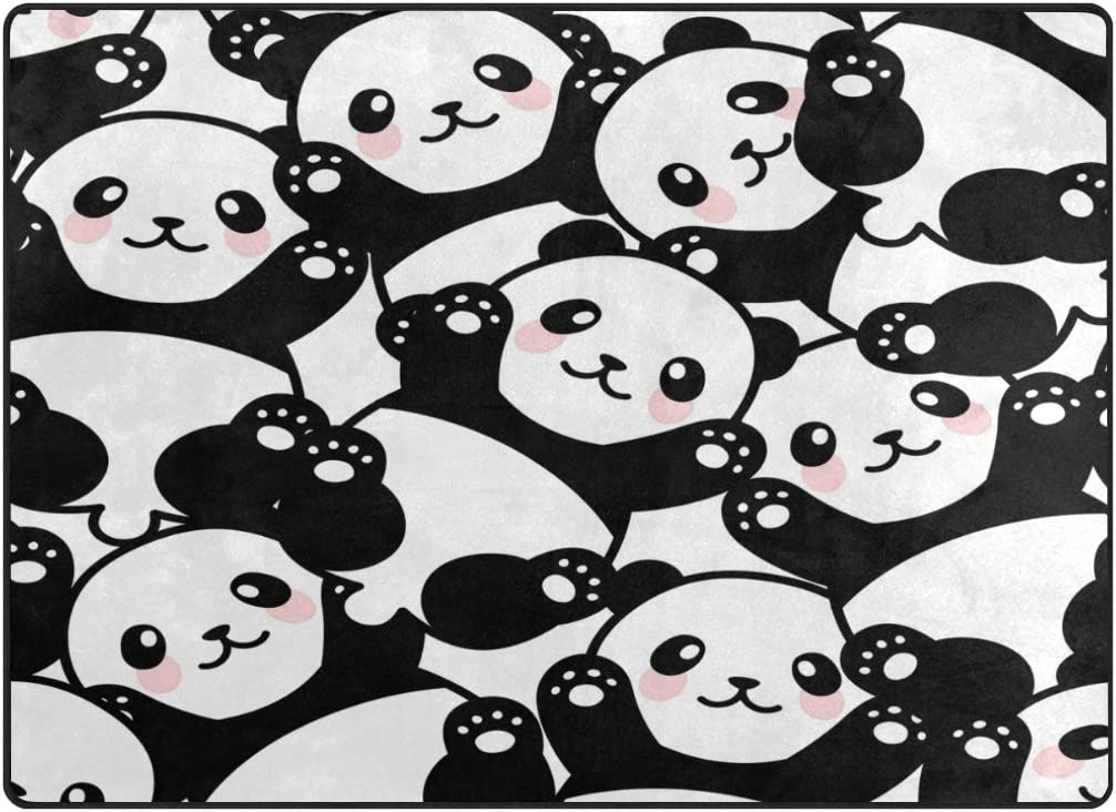 ALAZA Cute Panda Area Rug Rugs for Living Room Bedroom 7 x 5