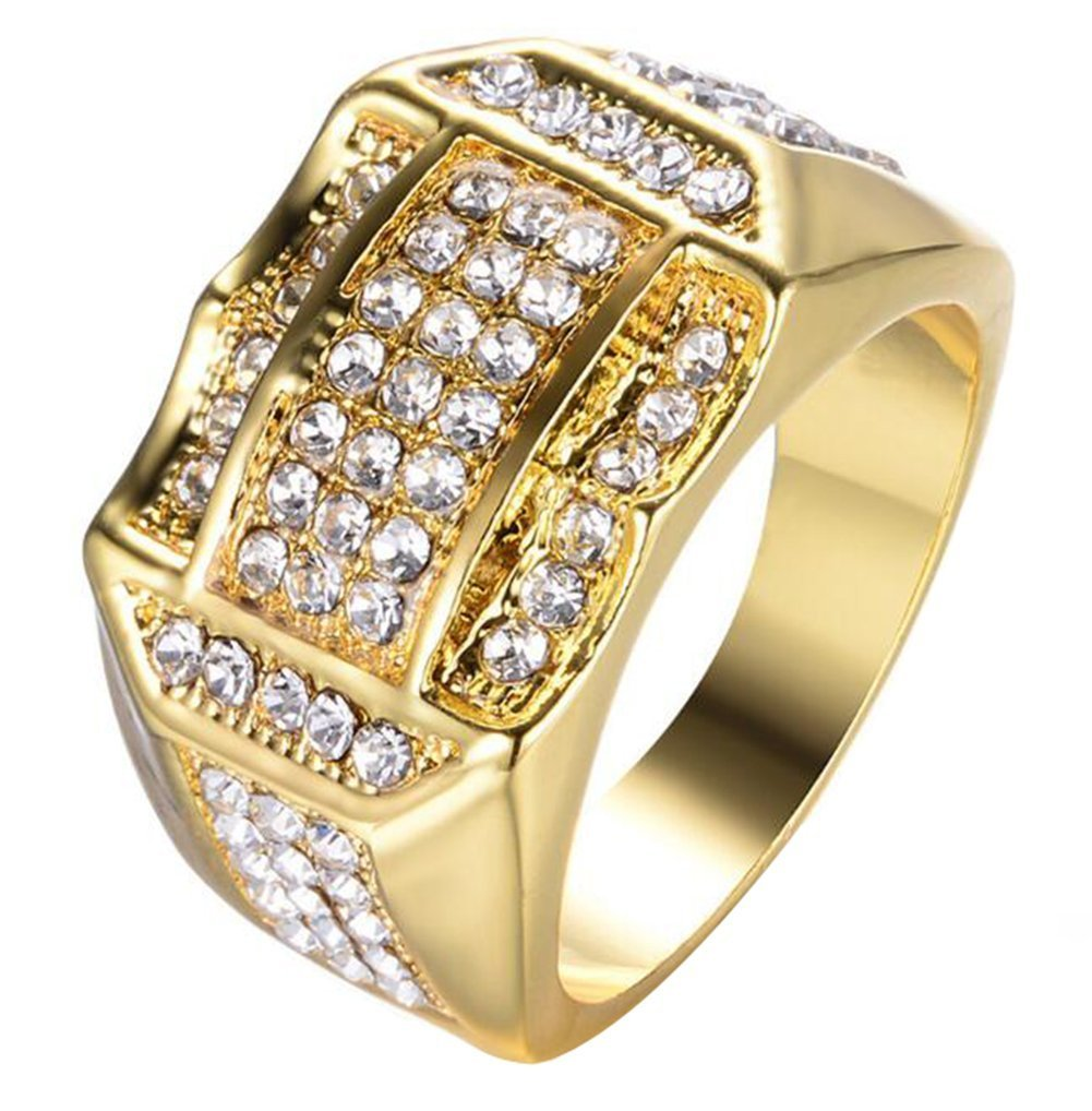 JJWW Tough Guy Muscular Male Large Gold More Drilling Zircon Rings 63pcs Small Zircon Inlaid Ring (7)