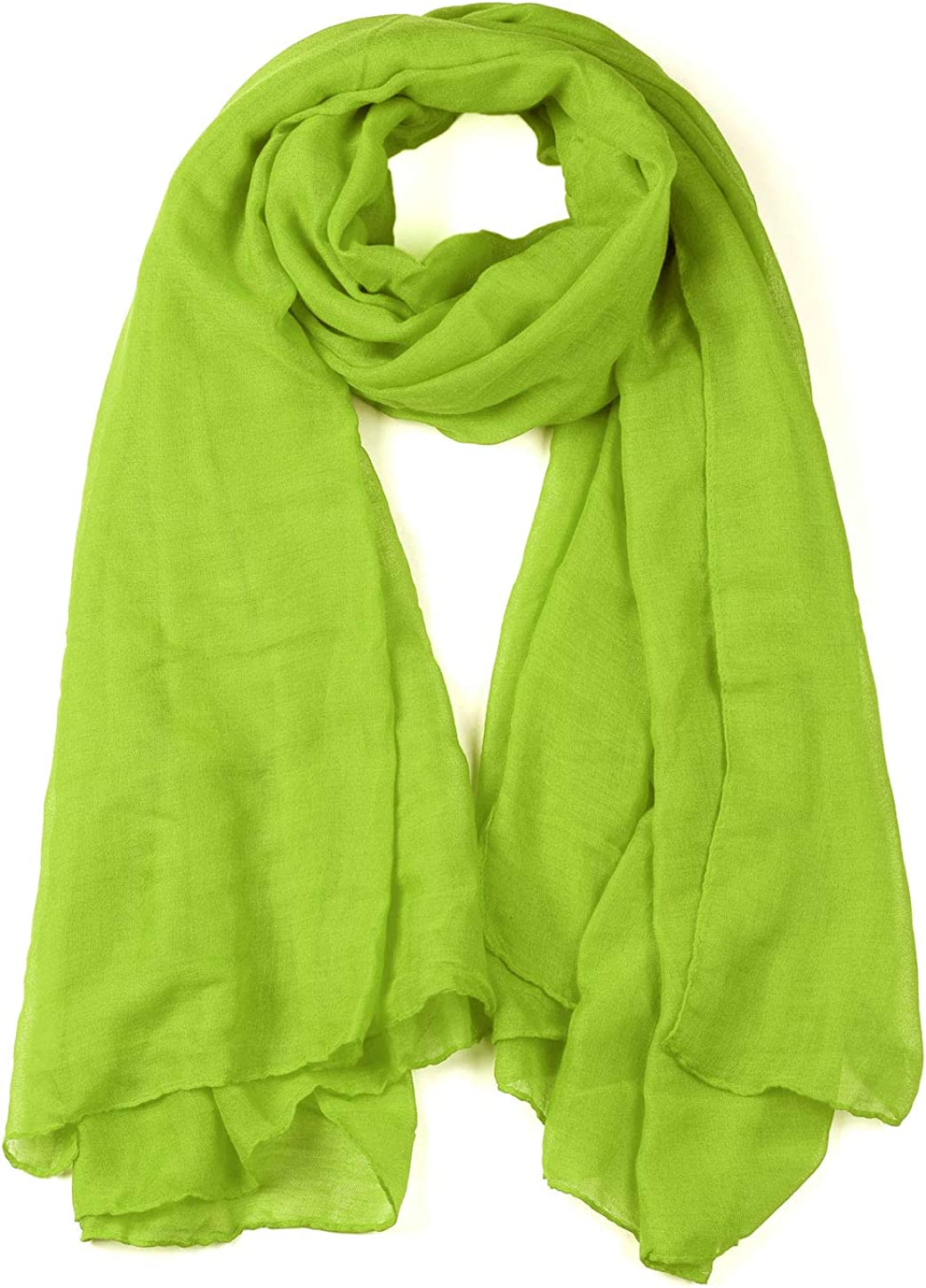 uxcell Women Lightweight Super Large Summer Beach Wrap Scarves Solid Color Soft Long Shawl