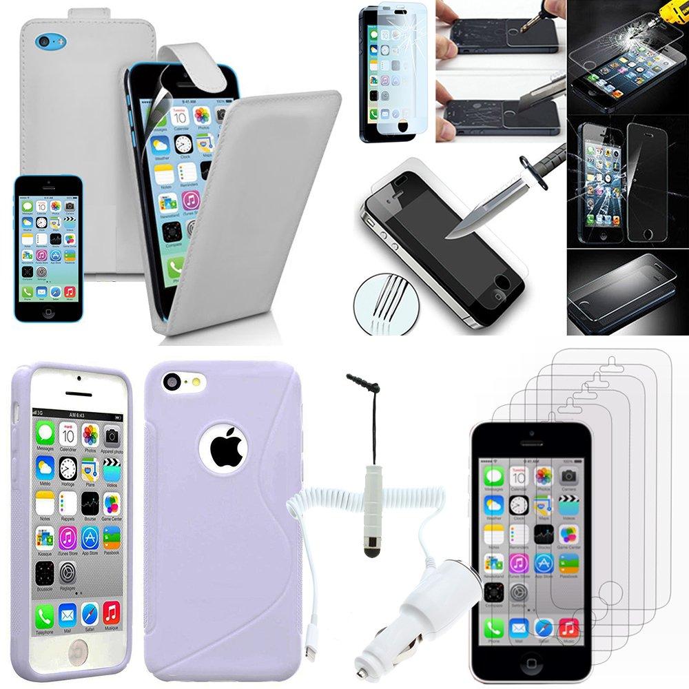 VCOMP Apple iPhone 5C: Lote Funda Estuche Accesorios Gel De ...