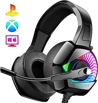 ONIKUMA Auriculares Gaming -Cascos PS4 con Micrófono, Sonido ...