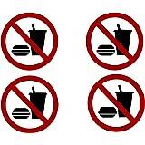 Amazon com: No Food or Drink Sign Vinyl Sticker - Car Phone
