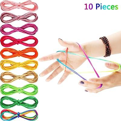 10 Piezas 65 Pulgadas de Cuerda Larga del Juego Cuerda del Juego Cuerda Elástica Cuerda de Juguete, 10 Colores: Juguetes y juegos