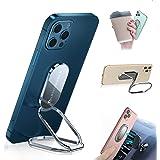 Foldable Cell Phone Stand for Desk, Adjustable Cellphone Ring Holder Finger Kickstand for Office Desktop & Magnetic Car Mount