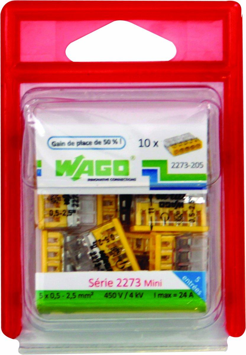 Juego de bornes 15 unidades, 3 entradas Wago WAG2273//203BL15