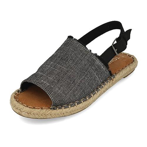 89433dccc1e85 Toms Women's Clara Denim Chambray Espadrille: Amazon.ca: Shoes ...