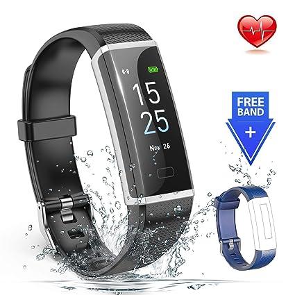 Amazon.com: EMISK Fitness Tracker, Reloj de seguimiento de ...