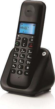 Motorola T301Plus - Teléfono inalámbrico, color negro: Amazon.es: Electrónica