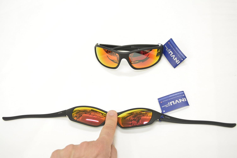 Gafas de sol polarizadas INVU a 2501 F negro espejo rojo elástica indeformabile Lentes 100% UV Block Sunglasses Polarized: Amazon.es: Deportes y aire libre