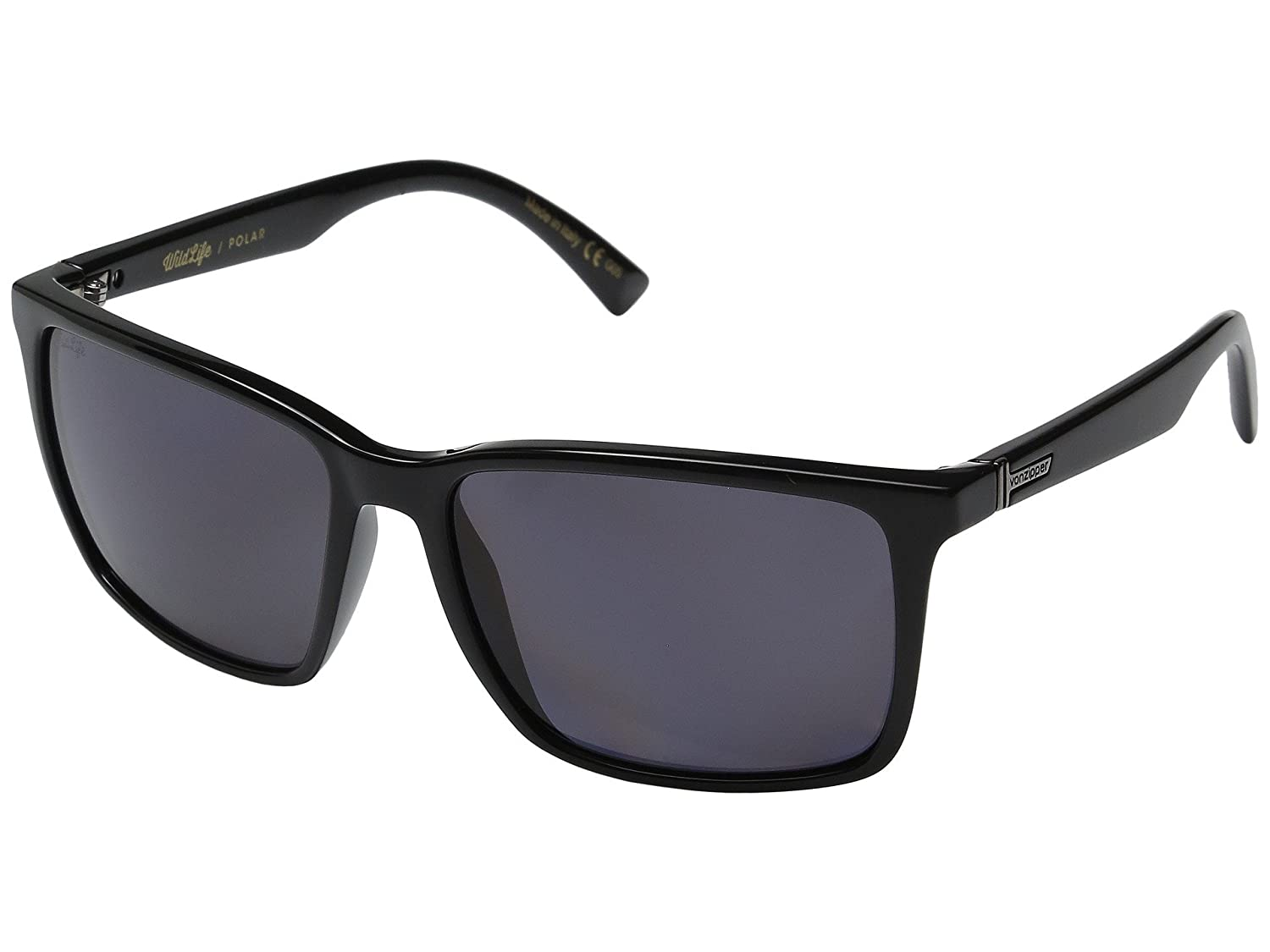 VonZipper Lesmore Sunglasses Black with Wildlife Vintage Grey Polarized Lens