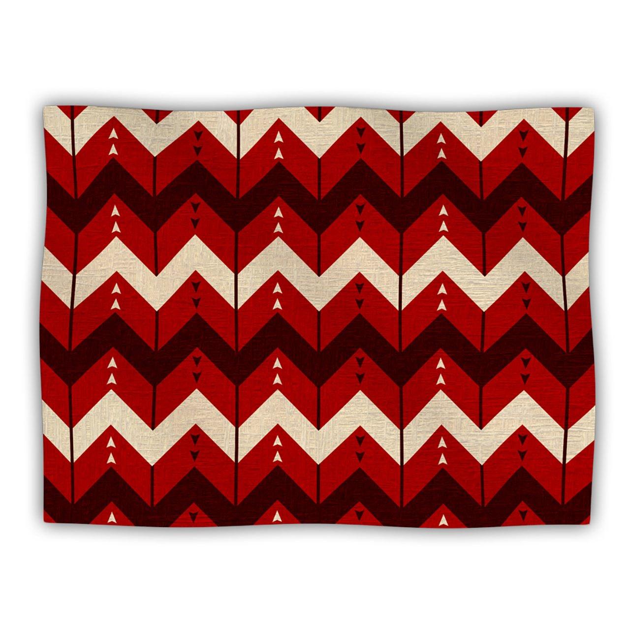 Kess InHouse Nick Atkinson 'Chevron Dance Red' Dog Blanket, 40 by 30-Inch