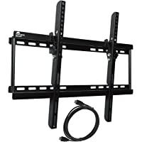 Fortress Mount TV Wall Mount with 9-feet Braided HDMI Cable