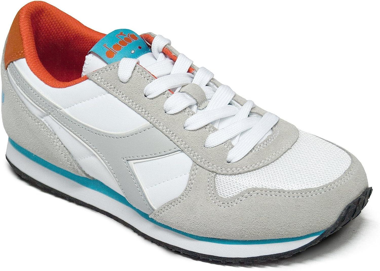 Diadora Scarpe Sneaker UomoDonna Modello K Run II Vari Colori (White CyanBlue Fluo 40)