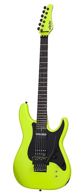 Schecter 1289 diseño guitarra eléctrica, abedul verde