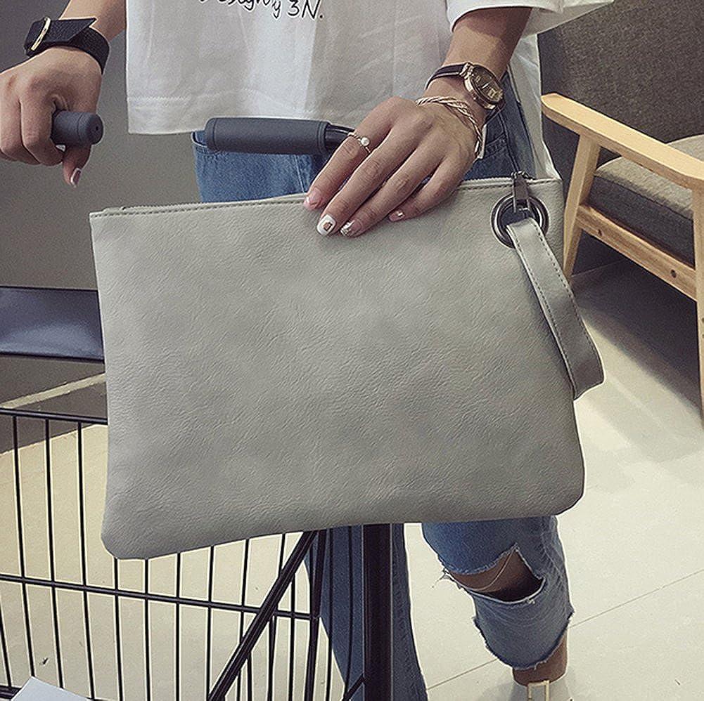 Hycurey Oversized Clutch Bag Purse and Handbag Womens Large PU Leather Evening Wristlet Handbags
