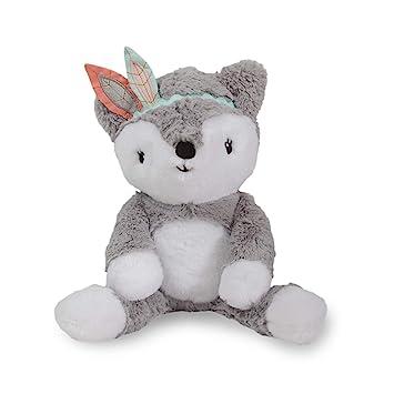 Amazon Com Lambs Ivy Little Spirit Gray White Plush Fox Stuffed