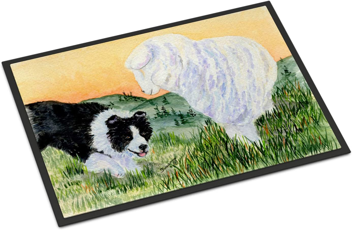 Caroline s Treasures SS8103MAT Border Collie Indoor Outdoor Mat 18×27 Doormat, 18H X 27W, Multicolor