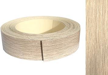 Kantenumleimer Melamin 45mm X 5m Mit Schmelzkleber In Eiche Grau Sonoma Dekor Amazon De Baumarkt