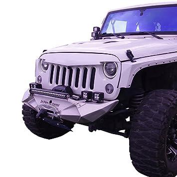 c03e15b0d749 Amazon.com  TOPFIRE Front Bumper Full Width Offroad for 2007-2017 Jeep  Wrangler JK (Original Color)  Automotive