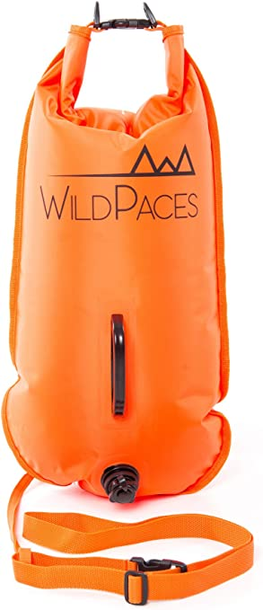 IPOTCH Swim Buoy Safety Tow Float High Visibility Inflatable Waterproof Dry Bag /& Waist Belt for Swimming Kayak Diving