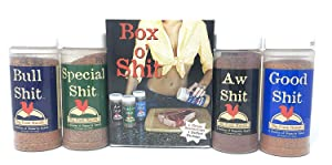 Special Shit - Box o' Shit Sampler Pack of 4 Different Seasonings (1 each of Bull, Special, Good & AW)