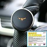 [STATUS] MINI Power handle - Orange / 車用 ハンドルスピンナー / 自動車ハンドルノブ 優れたグリップ カー用品 インテリア/ コンパクトデザイン