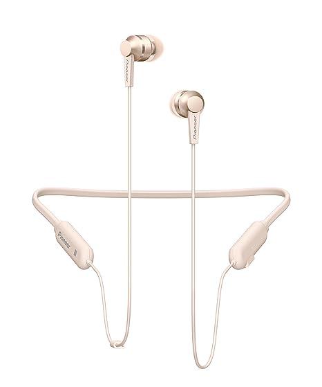 Pioneer C7 in-Ear Auriculares inalámbricos con Banda para el Cuello, Color Dorado
