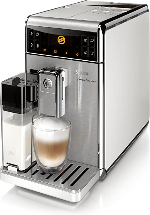 Saeco GranBaristo HD8966/01OP - Cafetera (Independiente, Máquina espresso, 1,7 L, Molinillo integrado, 1900 W, Acero inoxidable, Blanco): Amazon.es: Hogar
