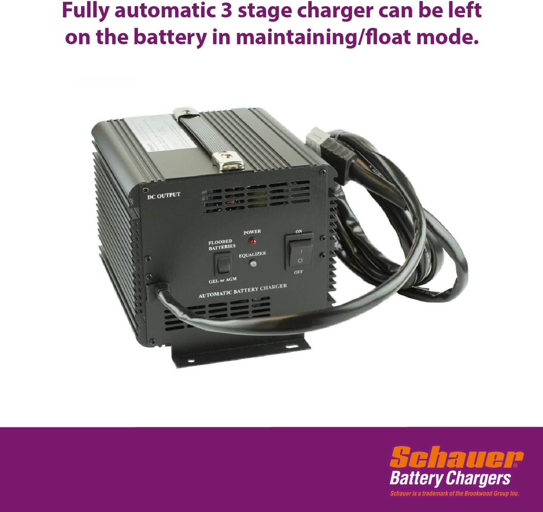 Amazon Com Schauer Jac1548h Club Car Powerdrive Battery Golf Equipment Charger 48 Volt 15 Amp Golf Cart Accessories Sports Outdoors