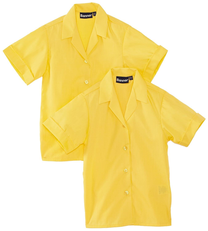 Blue Max Banner Girl's Revere Twin Pack Short Sleeve School Blouse Twin Pack Revere - S/S