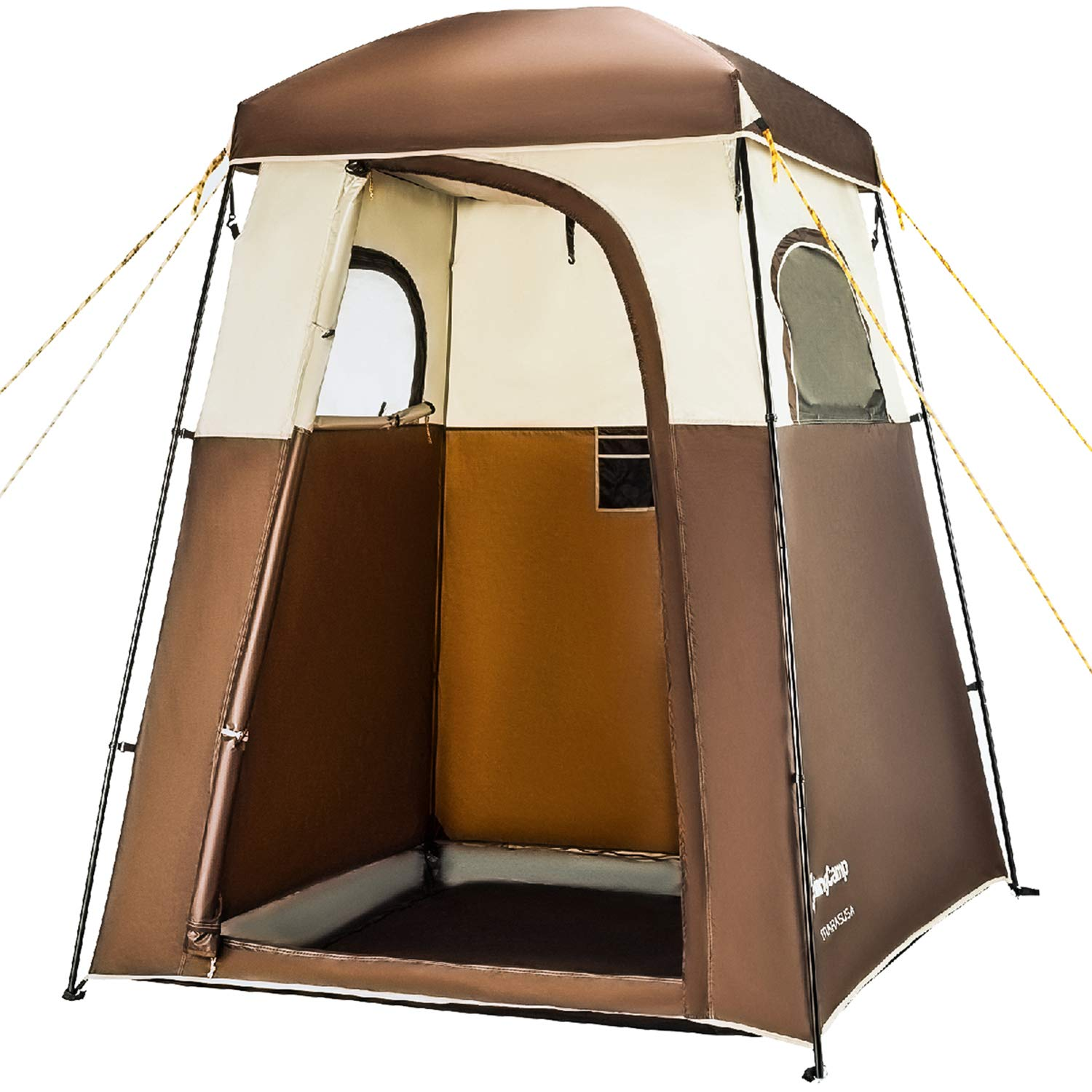 KingCamp Oversize Outdoor Easy Up Portable Dressing Changing Room Shower Privacy Shelter Tent, COFFEE by KingCamp