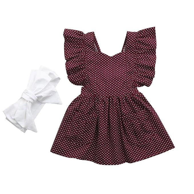 UOMOGO® Newborn bambina bambino partito abito da battesimo tuta Outfits +  fascia 2pcs insiemi dei vestiti 6-24 Mesi  Amazon.it  Abbigliamento 4c0cac4bde6