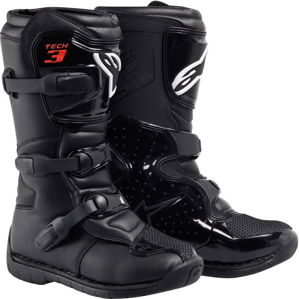 Alpinestars Tech 3S Youth Boots-Black//White//Flo Yellow 6