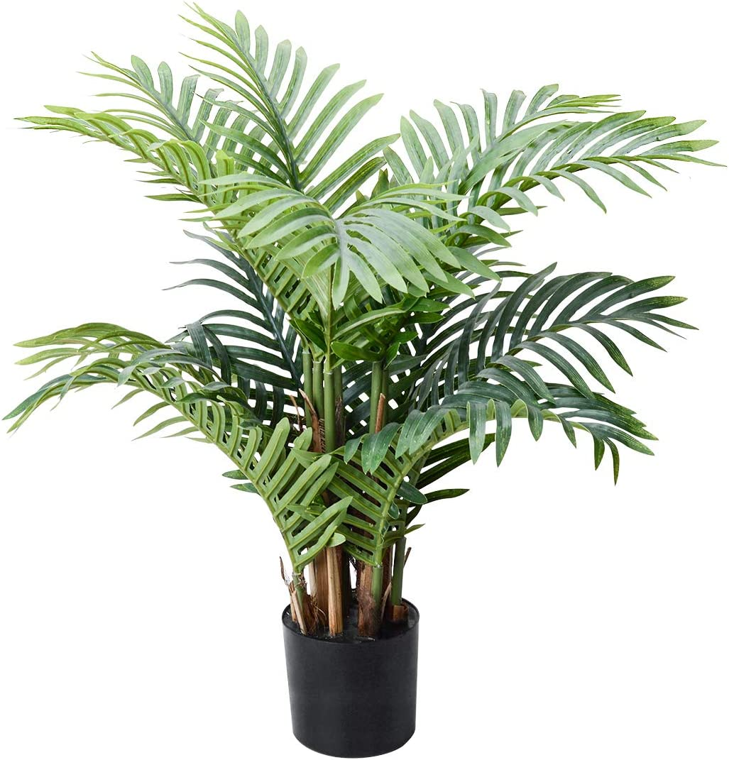 Palm Tree Artificial Plants Fake Tree Large Tropical Leaves Decorations Palm Leaves Imitation Artificial Plants Leaf