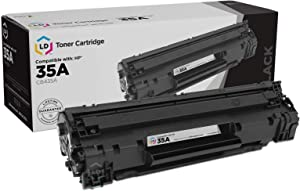 LD Compatible Toner Cartridge Replacement for HP 35A CB435A (Black)