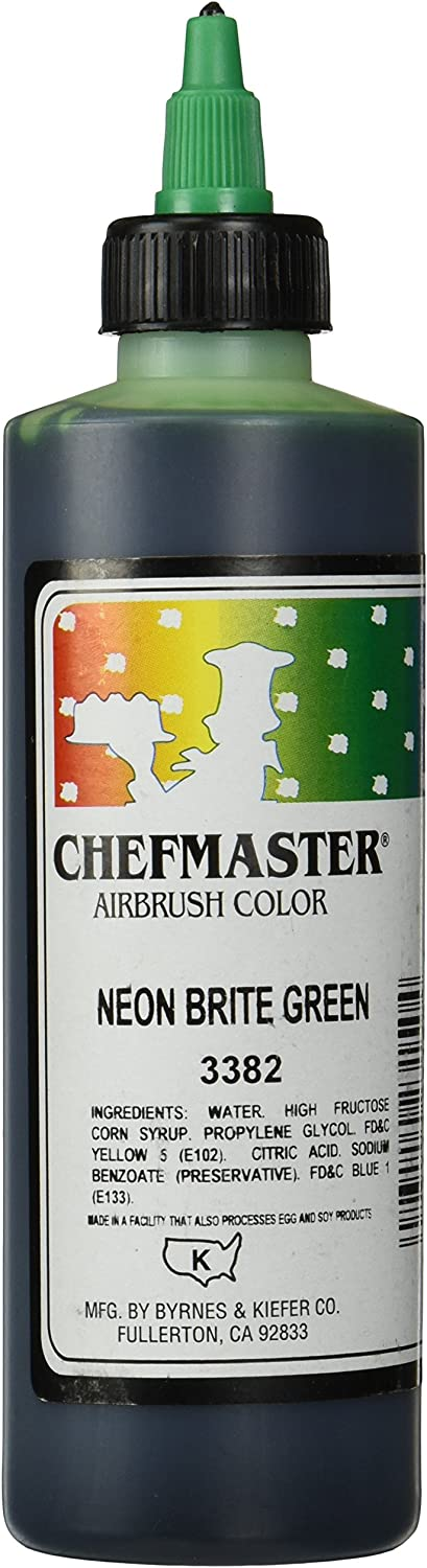 Chefmaster Airbrush Spray Food Color, 9-Ounce, Neon Brite Green