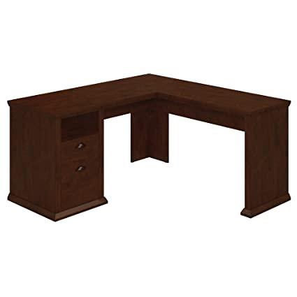 Marvelous Bush Furniture Yorktown L Shaped Desk In Antique Cherry