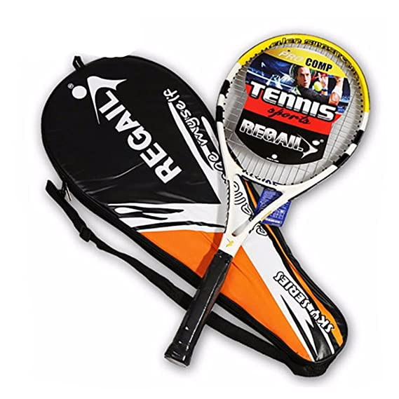 Amazon.com : 1 Piece Tennis Racket Carbon Fiber Women Man Masculino Raqueta De Tenis for Match Game Training with Free Bag Blue : Sports & Outdoors