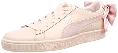 hot sale online f6ae4 561fd Amazon.com | PUMA Women's Basket Bow WN's Trainers, Pearl ...