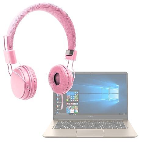 DURAGADGET Auriculares De Diadema Color Rosa para Portátil Huawei MateBook D