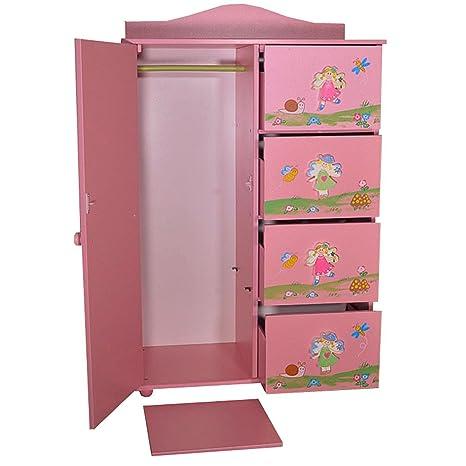 Piccolo armadio con cassetti per cameretta da bambina, a tema fiori ...