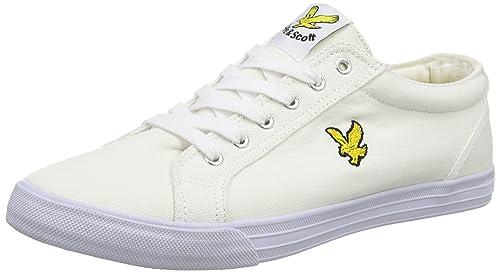 Lyle   Scott Men s Halket Canvas Low-Top Sneakers White (White) 6 UK 0843bcd26