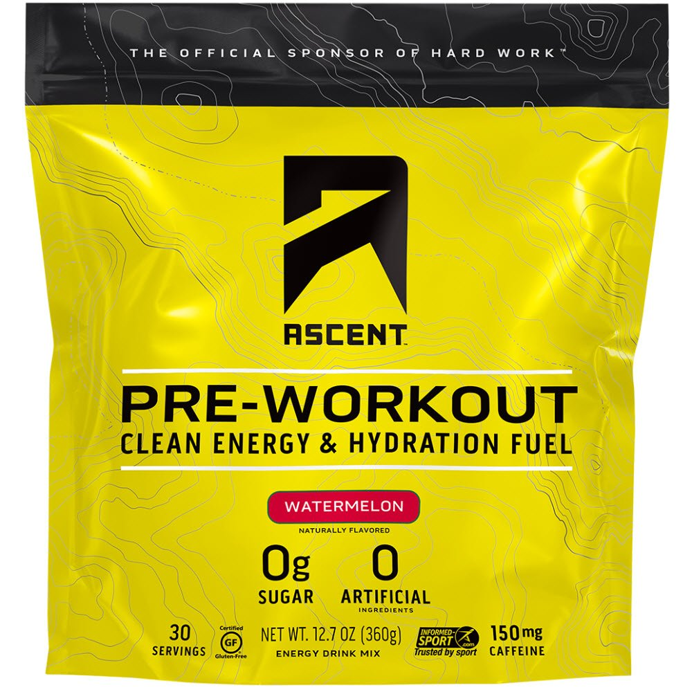 Ascent Pre Workout - Watermelon (Sweet) - 30 Servings