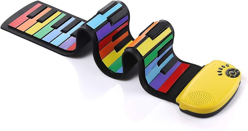 DigitalLife Piano Enrollable de Mano de 49 Teclas con Altavoz ...